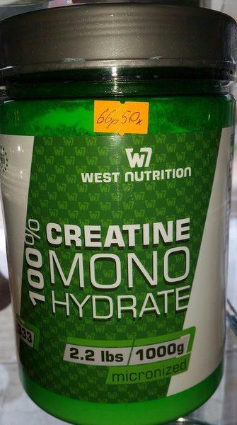 100% Креатин Моногидрат - West Nutrition 1000 гр