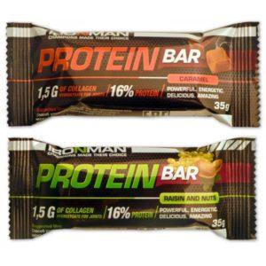 Протеиновый батончик Protein Bar Карамель, орехи