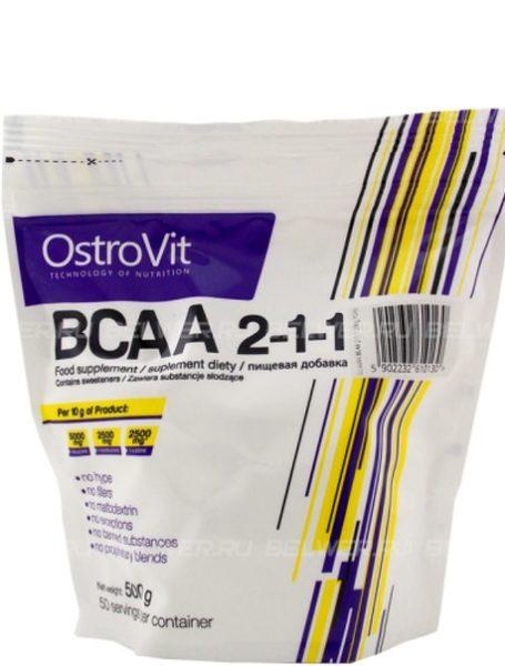 ВСАА аминокислоты OstroVit Extra Pure BCAA 2:1:1 500г