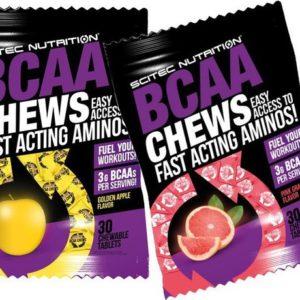 Жевательные таблетки BCAA CHEWS Scitec Nutrition