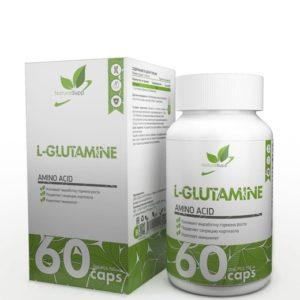 Комплексная пищевая добавка NaturalSupp L-GLUTAMINE (Глютамин), 60 капсул